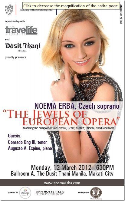 Opera Night at Dusit Thani Hotel: 'The Jewels of European Opera' performed by Noema Erba, soprano